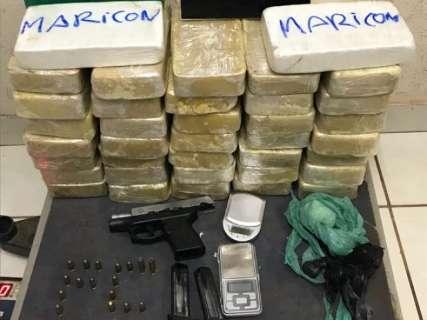 Irmãos são presos ao buscar cocaína na residência de traficante na Capital