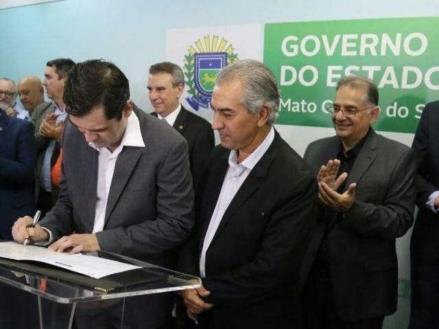 Coimbra assumiu o comando da SES na tarde desta quarta-feira. (Fotos: Marcos Ermínio)