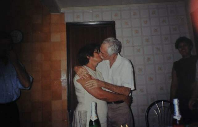 Seu Leonildo e dona Aparecida nos 40 anos de casados. (Foto: Arquivo Pessoal)