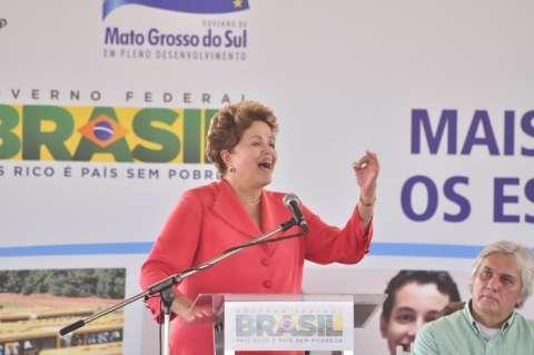 Dilma Rousseff confirma várias obras e a federalização da Sul-Fronteira