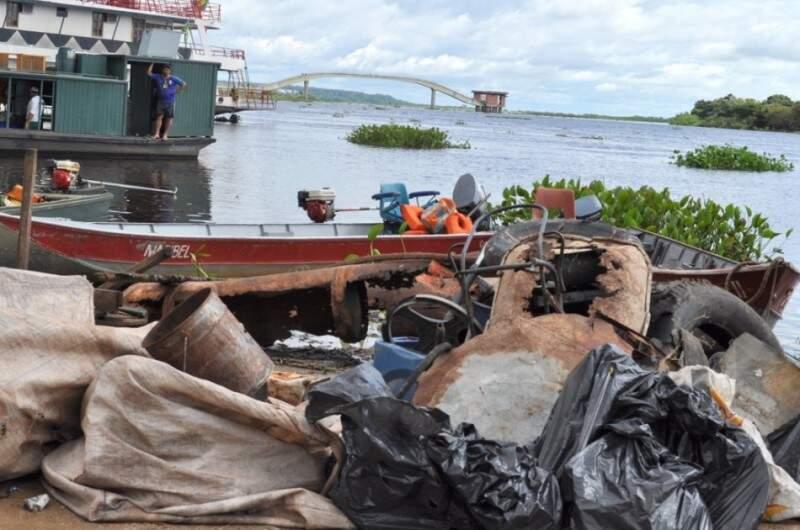 A limpeza foi durante uma gincana realizada pela Prefeitura do município. (Foto: divulgação)