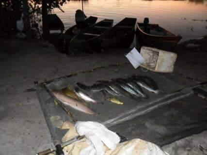 Policiais multam pescador e apreendem pescado irregular em Itaquiraí