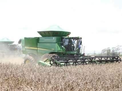 Chuva já atrapalha e colheita da soja está em 3,2% da área plantada em MS