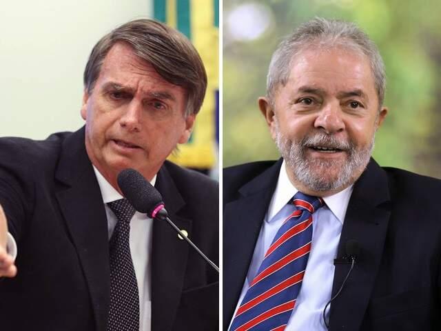 Bolsonaro e Lula aparecem no segundo turno, de acordo com  pesquisa Ibope (Foto: Montagem)
