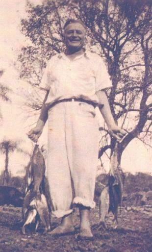 Thomé adorava pescar.