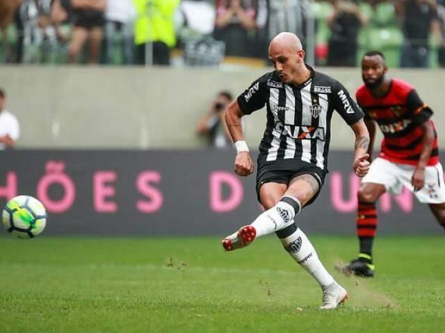 Lance do jogo da tarde deste domingo (Foto: Bruno Cantini / Atlético)