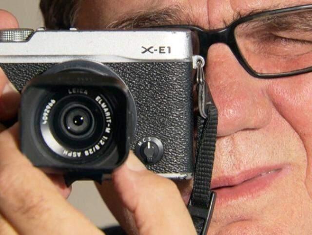 Foi através das lentes de sua câmera que João Roberto registrou momentos impactantes (Foto: Reprodução TV Rede Globo)