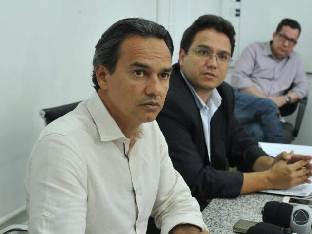 Marquinhos e Pedro Pedrossian têm o desafio de reduzir a folha de pagamento.  (Foto: Alcides Neto)