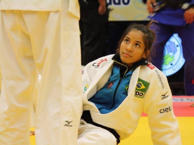 Larissa Farias foi derrotada na repescagem e ficou na 7ª posição em competição (Foto: Divulgação)
