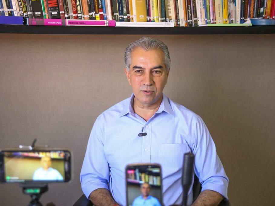 Reinaldo Azambuja, do PSDB, no Campo Grande News. (Foto: Paulo Francis/Arquivo).
