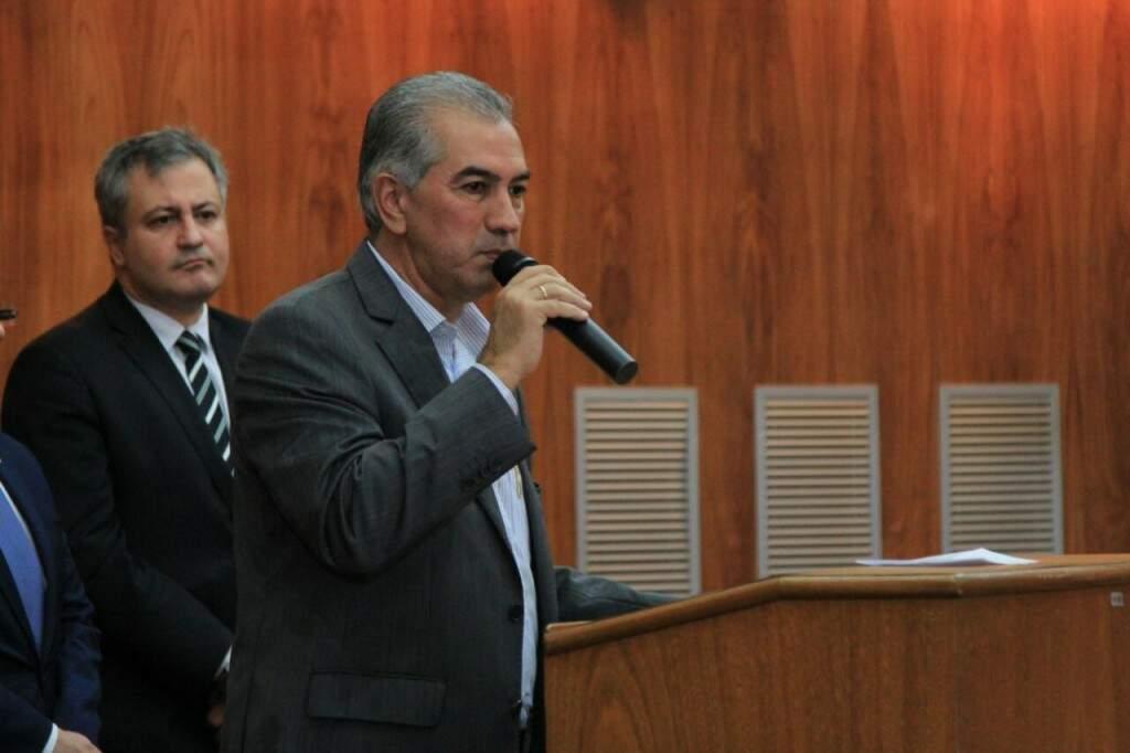 Reinaldo participou de evento hoje na OAB (Ordem dos Advogados do Brasil). (Foto:Marina Pacheco)