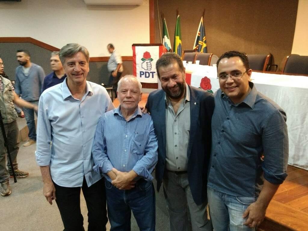 Na imagem, os pedetistas Dabogerto, Biffi, Lupi e Odilon Junior (Fotos: Antônio Marques/Divulgação)