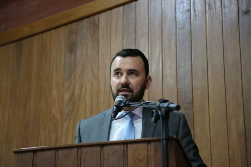 No dia da posse, o novo superintendente da PF, Ricardo Cubas, afirmou que uma das prioridades na gestão será o combate aos crimes financeiros (Foto: Fernando Antunes)