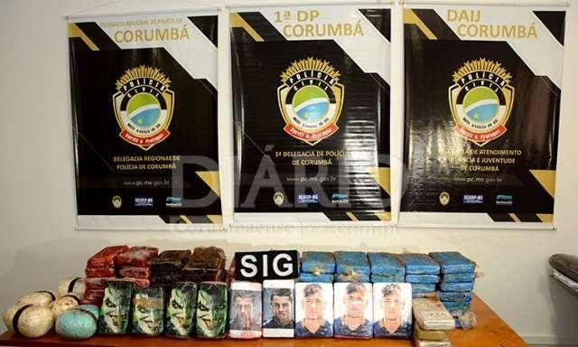 Carga de 94 kg de cocaína pura sairia de MS com destino ao Rio de Janeiro