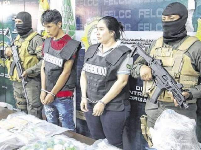 Casal que intermediava a entrada ilegal de bolivianos. (Foto: Jorge Ibáñez)