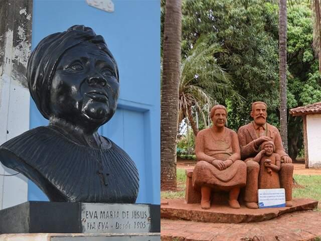 Comunidade São Benedito, criada por Tia Eva, é formada só por descendentes e o museu ocupa  casa do filho de José Antônio Pereira. (Foto: Thaís Pimenta/Henrique Kawaminami)