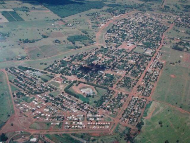 Vista aérea de Sete Quedas, na fronteira com o Paraguai.  (Foto: A Gazeta News)