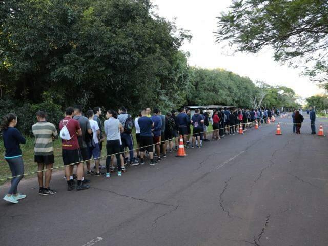 Candidatos participaram do TAF no dia 26 de maio no Parque dos Poderes (Foto: Paulo Francis/Arquivo)