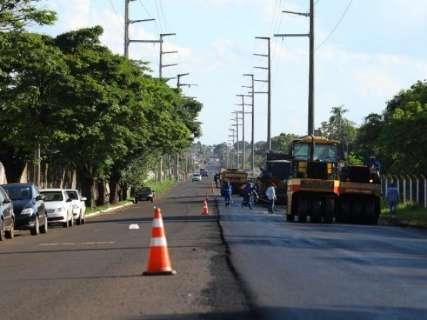 Prefeitura começa nova etapa de recapeamento na Avenida Tamandaré