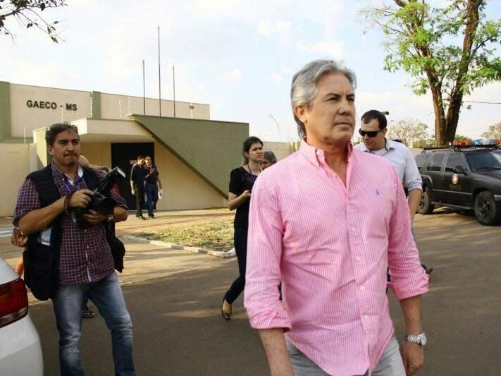 João Baird deixa o prédio do Gaeco, onde prestou depoimento no dia 25 de setembro, no âmbito da Operação Coffee Break (Foto: Marcos Ermínio/Arquivo)