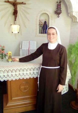 Atualmente Mariane vive na congregação de Porto Alegre. (Foto: Arquivo Pessoal)