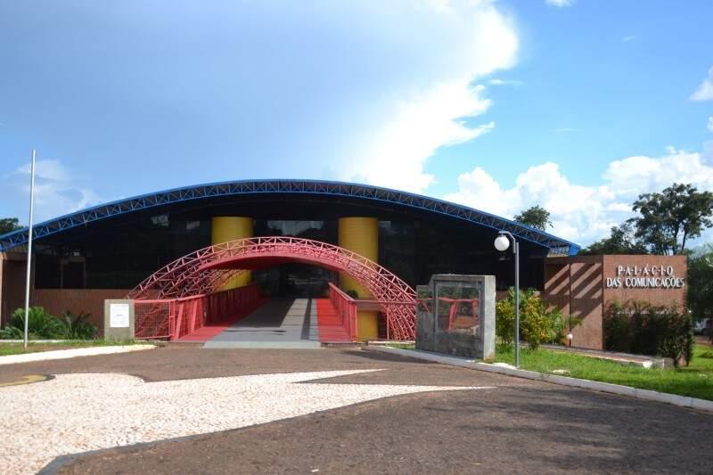 Fachada da TV Brasil Pantanal em Campo Grande. (Foto: Simão Nogueira)