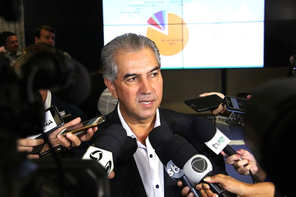 Reinaldo Azambuja apresentou as dificuldades nas finanças desde o começo do ano (Foto: Chico Ribeiro - Assessoria)
