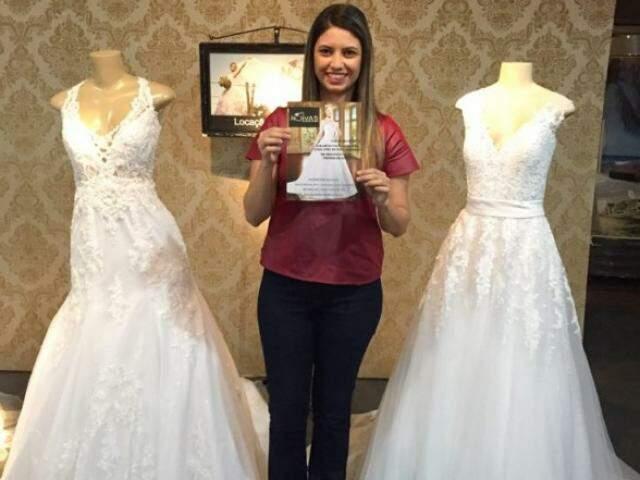 O último prêmio foi uma carta de crédito para um vestido de noiva. (Foto: Arquivo Pessoal)