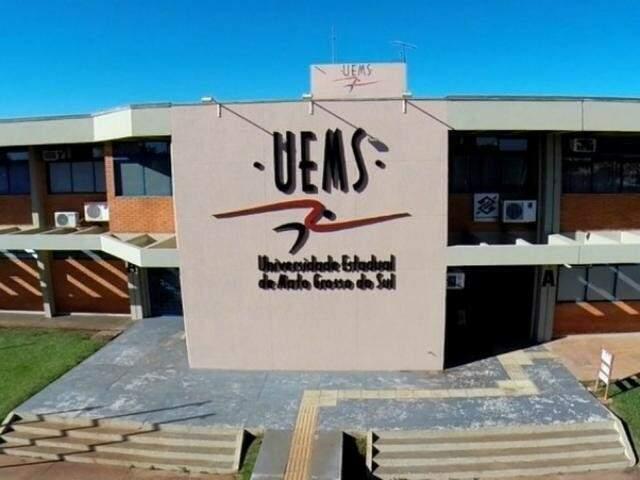 Entrada principal da universidade em Campo Grande (Foto: Divulgação)