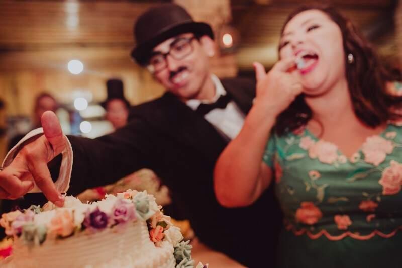 Rejane se realizou não no casamento em si, mas na festa e na alegria que envolveu a florista e Charles Chaplin. (Foto: André Patroni)