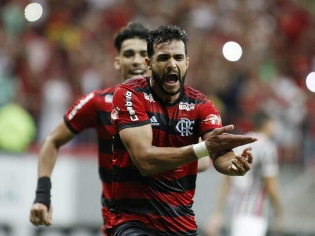 Henrique Dourado foi quem abriu o placar que garantiu a vitória do Flamengo. (Foto: Flamengo FC)