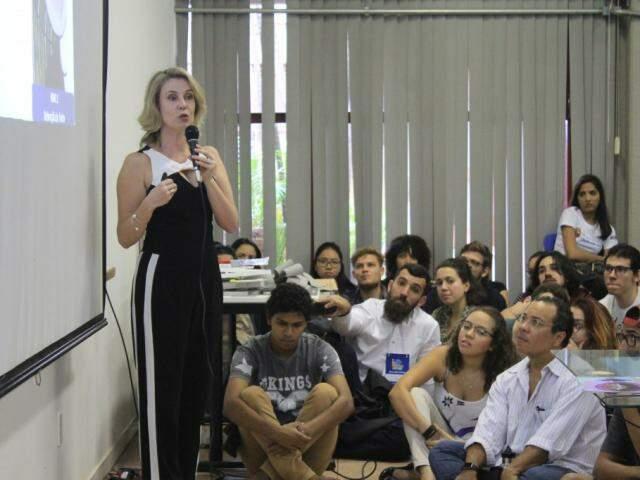 Monica Levy Andersen, é diretora de ensino do Instituto do Sono e palestrou na SBPC. (Foto: Marina Pacheco)