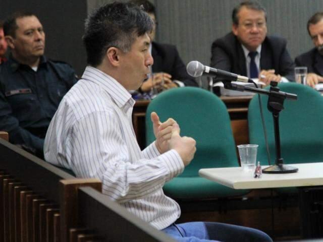 Ricardo Moon durante julgamento de 11 de abril, quer foi cancelado. (Foto: Marina Pacheco)