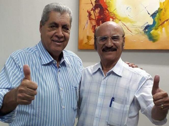Puccinelli com o vereador Loester. (Foto: Divulgação/Assessoria).