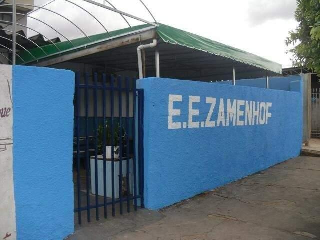 Escola Estadual Zamenhof, uma das unidades que seriam fechadas pelo governo do estado (Foto: Divulgação)