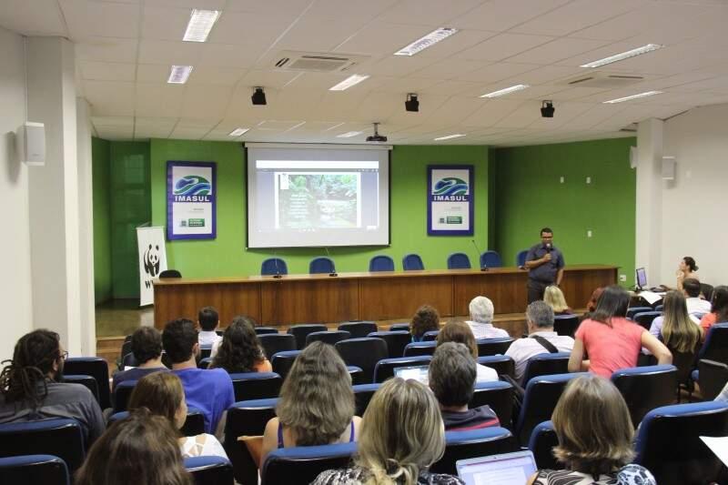1º Oficina e Planejamento para os Corredores de Biodiversidade de Mato Grosso do Sul, está sendo realizada nesta quarta-feira (16). (Foto: Assessoria de Comunicação do Imasul)