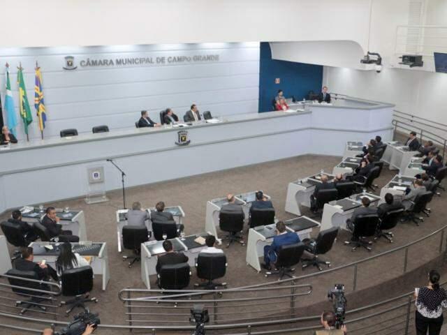 Prefeito Marquinhos Trad (PSD) pretende detalhar aos vereadores nova base de cálculo (Foto: Izaias Medeiros/CMCG)