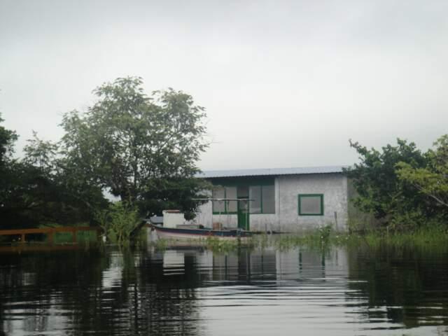 Pesqueiro foi embargado em novembro de 2011, mas funcionava sem autorização desde então. (Foto: Divulgação/PMA)