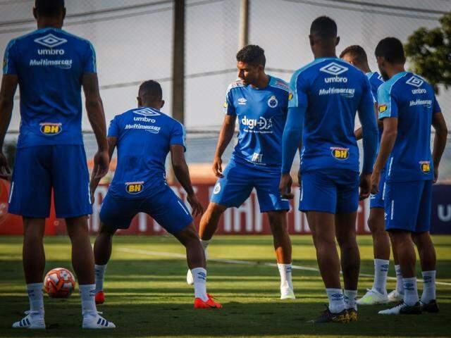Treino do Cruzeiro que, em meio a maratona pela Libertadores, tem disputa por vaga na final do Mineiro. (Foto: Vinicius Silva/Cruzeiro)