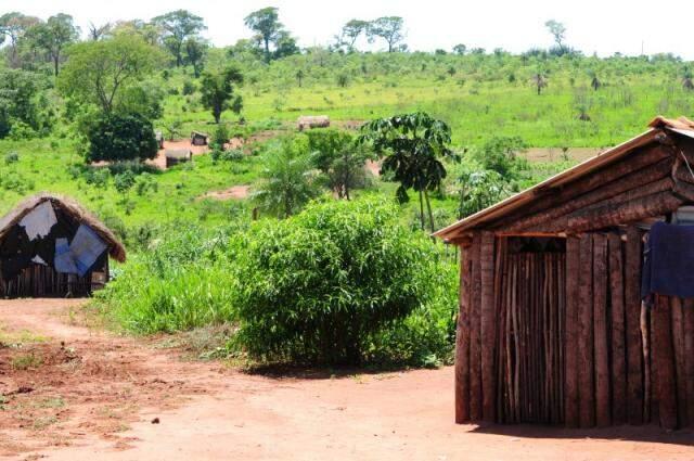 Área onde estão índios guarani Kaiowá em Iguatemi. (Foto: Rodrigo Pazinato)