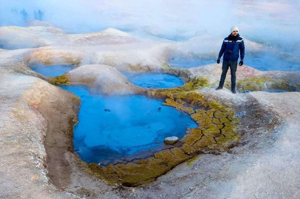 Termas de Polques, uma piscina natural de águas termais. (Foto: Juliano Pinheiro)