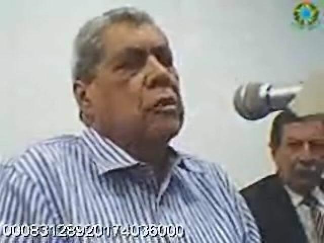André Puccinelli, ex-governador do Estado, em audiência de custódia. (Foto: Reprodução Audiência de Custódia).