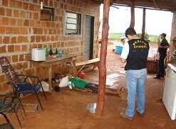 Trabalhador rural foi assassinado a tiros em frente à residência. (Foto: Osvaldo Duarte).