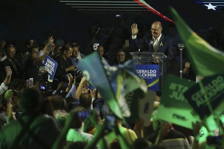 Convenção Nacional do PSDB, em Brasília, lança Geraldo Alckmin como seu candidato à Presidência da República (Foto: José Cruz/Agência Brasil)
