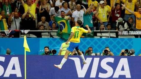 Golaço de Coutinho e o Brasil segue vencendo a Suíça em Rostov on Don