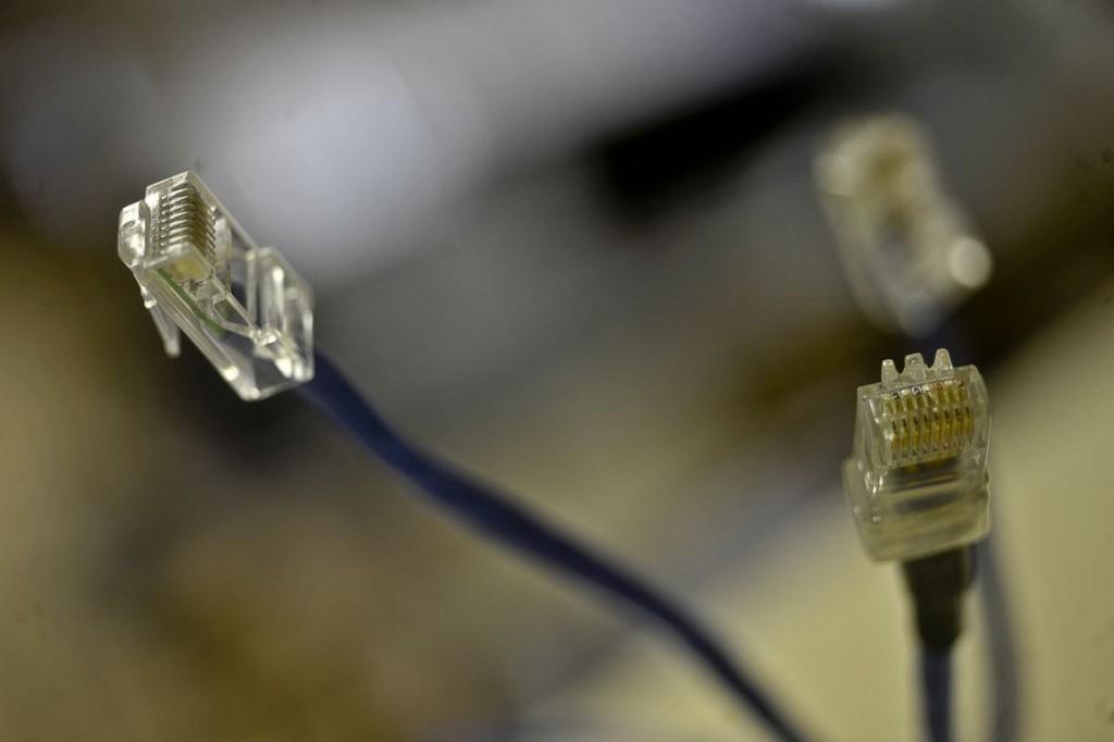 Cabo para conexão com a internet. (Foto: Marcelo Casal Jr./da Agência Brasil)