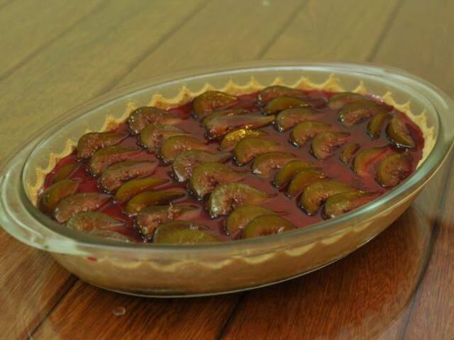 Cheesecake de figo foi novidade criada pela chefe de cozinha. (Foto: Alcides Neto)