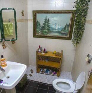 No lavabo, do chuveiro sai uma flor. (Foto: Fernando Antunes)