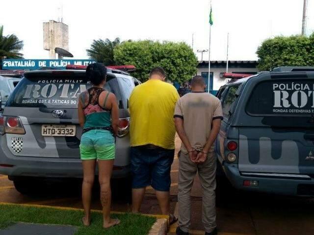 Suspeitos presos em operação em Três Lagoas (Foto: Celso Daniel/ Patrulha News)