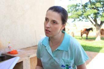 A pesquisadora da Embrapa Alessandra Nicácio. (Foto: Marina Pacheco)